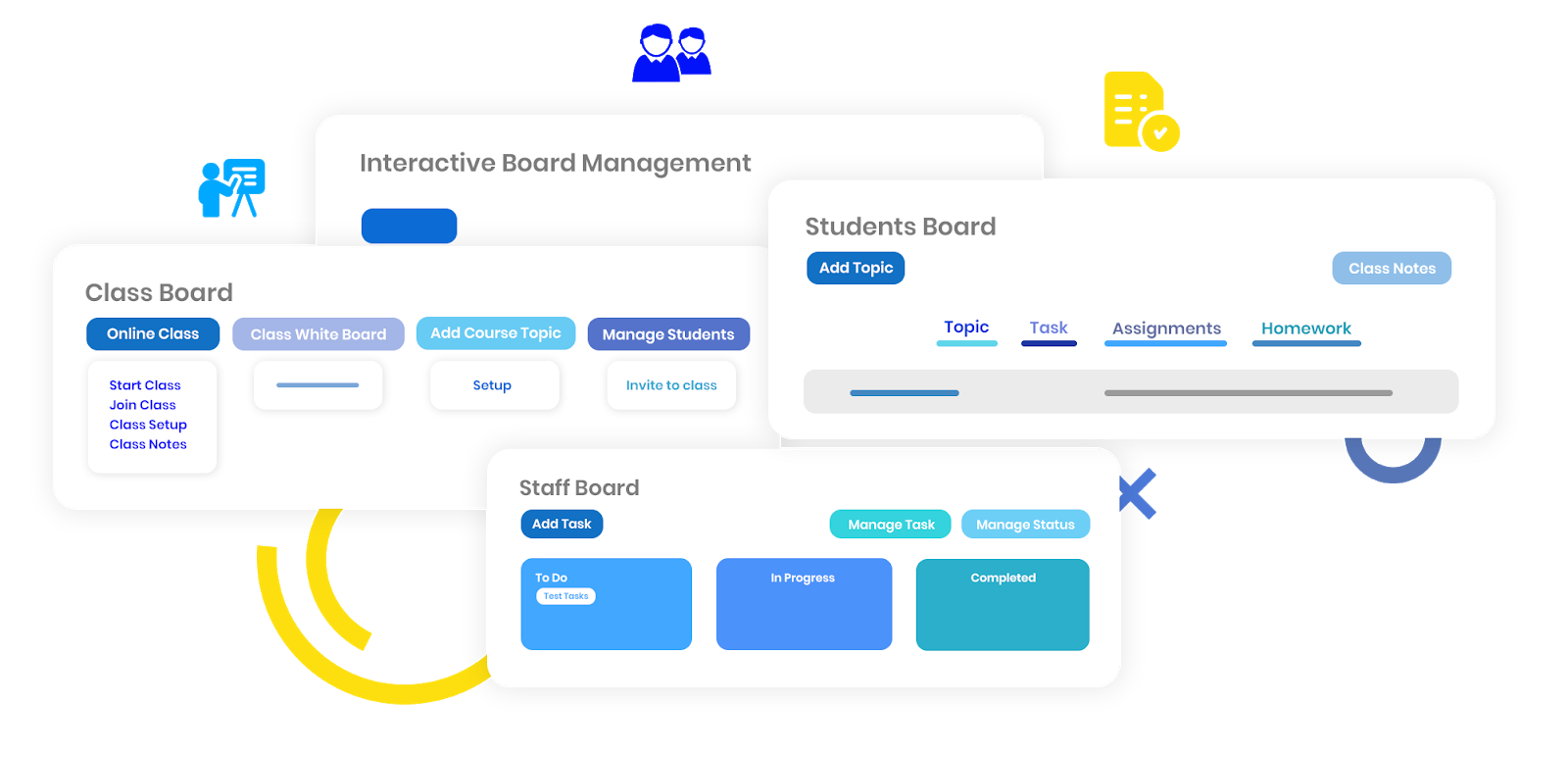 Calimatic LMS - Interactive Board Management for Students, Staff, Class