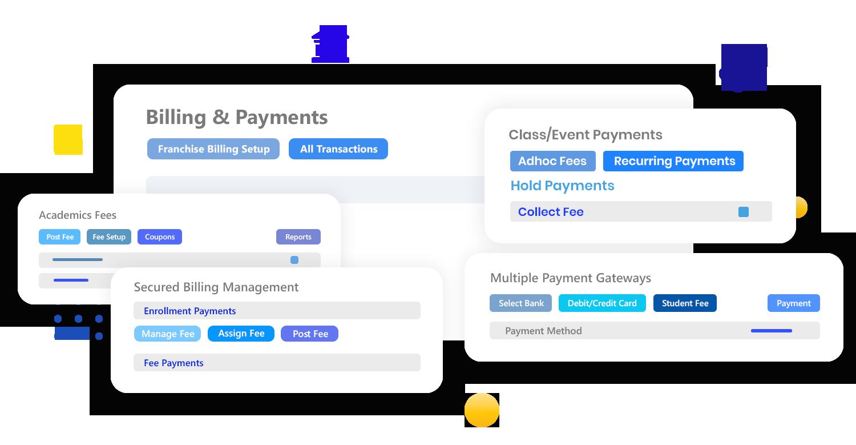 Calimatic EdTech Financial Management via Billing & Payments dashboard